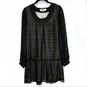 Tibi Drop Waist Silk Dress